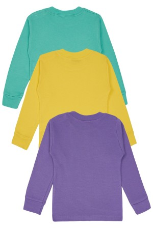 Child Long Sleeve Body 3 Pcs Set Purple