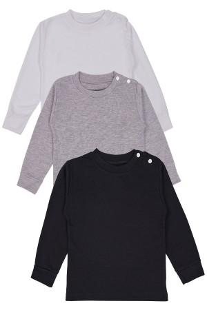 Kids Long Sleeve Body 3 Pcs Set Black