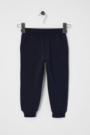 Boy's Tracksuit Single Bottom Sport Printed Navy Blue