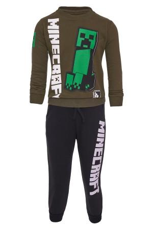 Boys Minecraft Printed Suit 5-8 Years Light Khaki