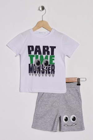 Boys Capris Suit Monster Printed Ages 2-5
