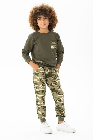 Boys Tracksuit Set Camouflage Patterned Ages 2-12