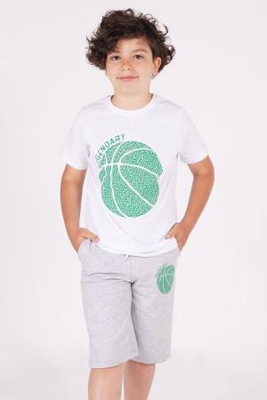 Boys Capris Suit Top Printed