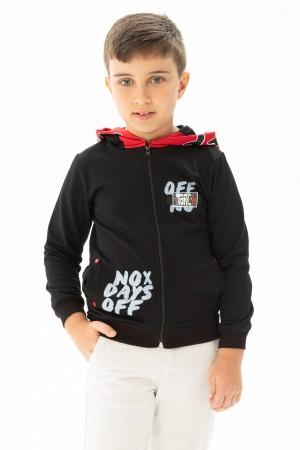 Boys Printed Zippered Hooded Sweatshirt Ages 3-7