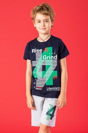 Boys Capris Suit Rise Grind Printed 9-12 Ages