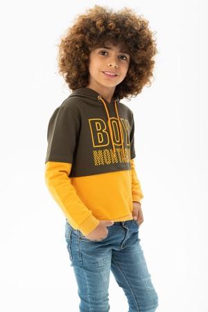 Boys Mantague Printed Hoodie Sweatshirt 5-12 Years