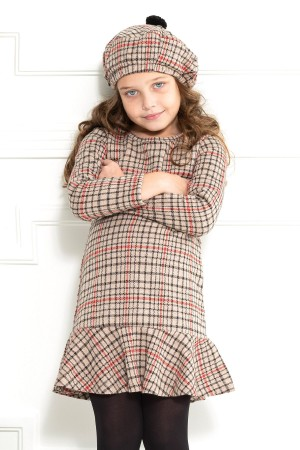 Girl Child Plaid Hat 2-9 Years Dress