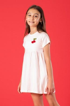 Girl Child Dress Cherry Accessory 6-9 Years