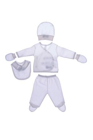 Unisex Baby Printed Undershirt Set Blue