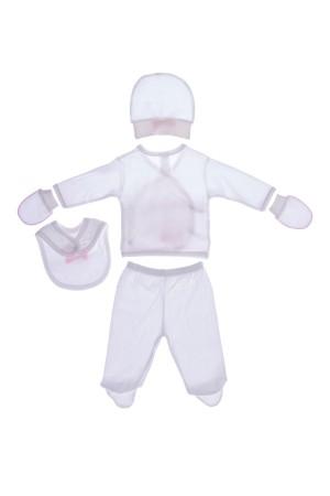Unisex Baby Printed Bodysuit Pink