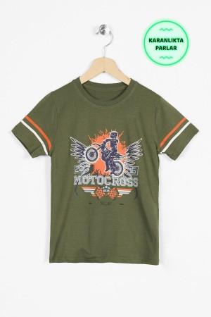 Boys' Glow In The Dark T-shirt Printed 8-12Years