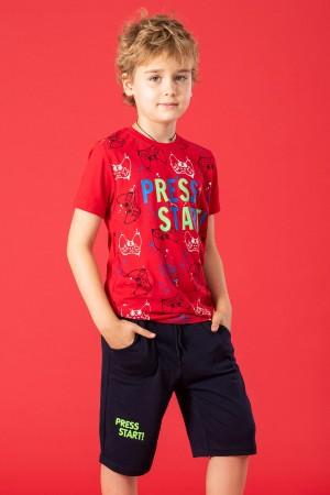 Boys Capris Suit Press Start Printed 8-12 Ages