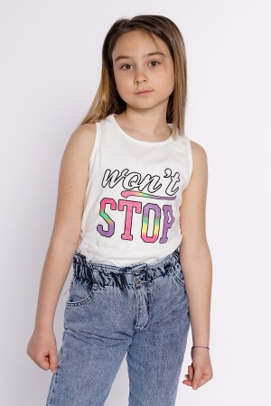 Girl Wont Stop Printed Tshirt 8-12 Ages