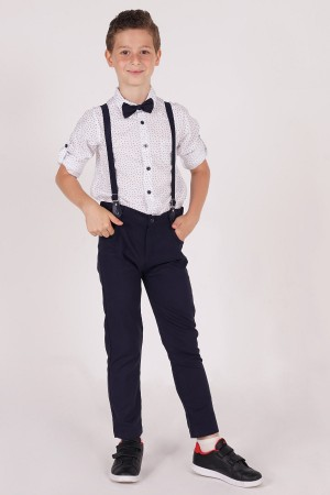 Boys Trousers Suit with Bow Tie Detailed