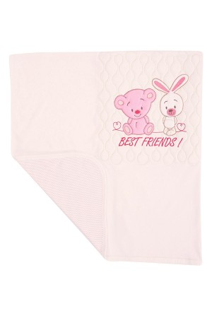Baby Blanket 89x90 Cm. Quilted Rabbit Ecru