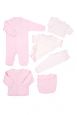 Unisex Bebe Newborn 8 Pack Set Rabbit Printed Pink