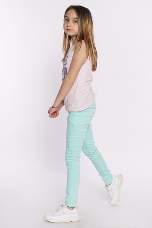 Girls Gabardine Trousers Lycra 8-12 Ages