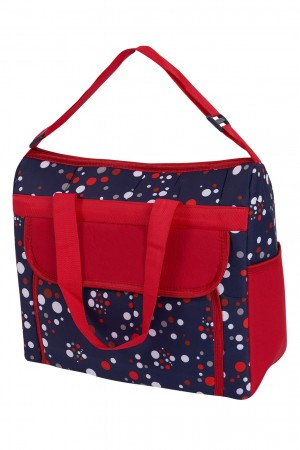 Polka Dot 2 Pcs Lux Carry Cot Red
