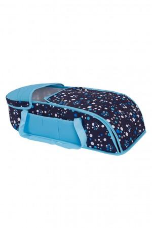 Polka Dot 2 Pcs Lux Carry Cot Blue
