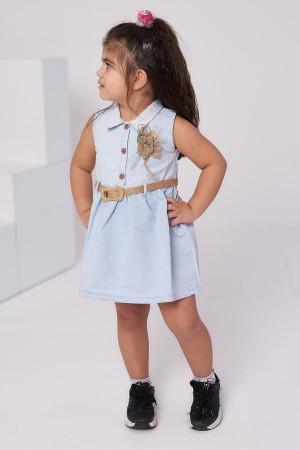 Girls' Straw Belt Dress 1-8 Years