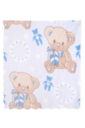 Bebe Blanket 113x92 Cm. Micro Star Embossed Blue