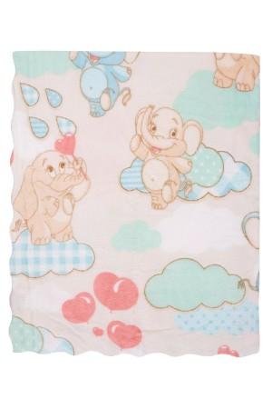 Bebe Blanket 113x92 Cm. Micro Star Embossed Mint