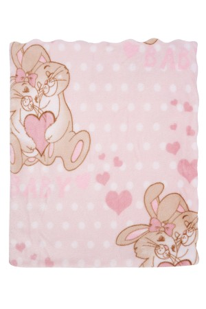 Bebe Blanket 113x92 Cm. Micro Star Embossed Pink