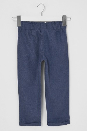 Girl's Trousers Belted Indigo