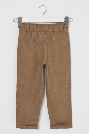 Girl's Trousers Belted Brown