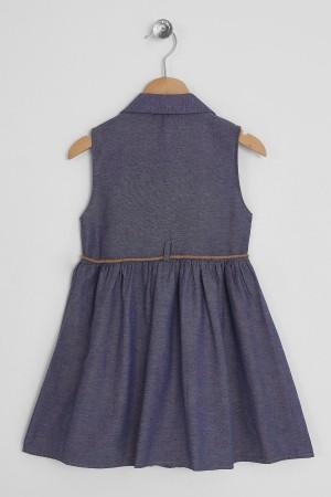 Girl Floral Denim Dress 3-7 Years