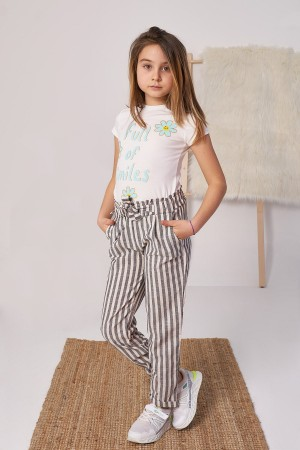 Girls Striped Trousers Ages 5-12