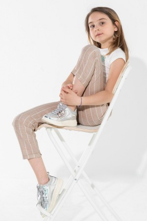Girls Thick Striped Trousers 5-12