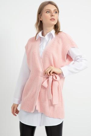 Belted Knitwear Vest