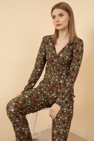 Floral Patterned Jumpsuit