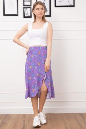 Patterned Ruffle Skirt