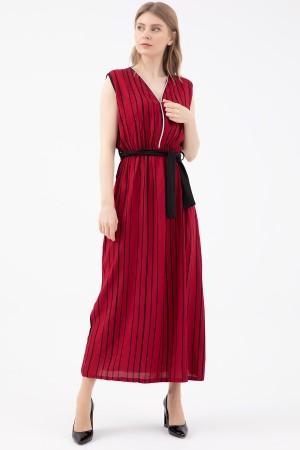 Zipper Belted Dress