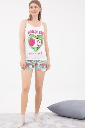 Printed Shorts Pajamas Set