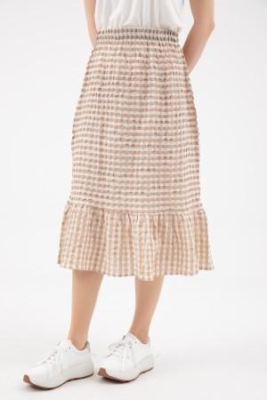 Ruffle Plaid Skirt