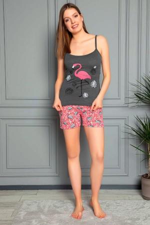 Suspender Shorts Pajamas Set