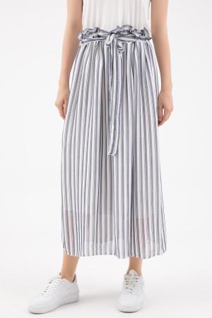 Waist Elastic Striped Skirt