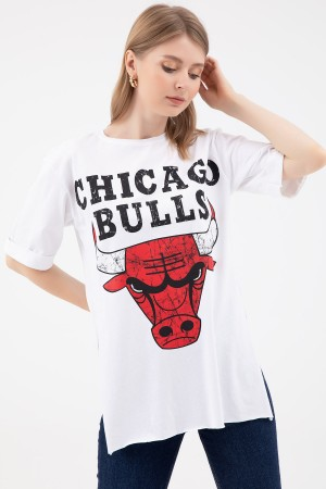 Zero Collar Printed T-shirt