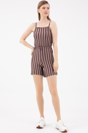 Rope Strap Striped Jumpsuit