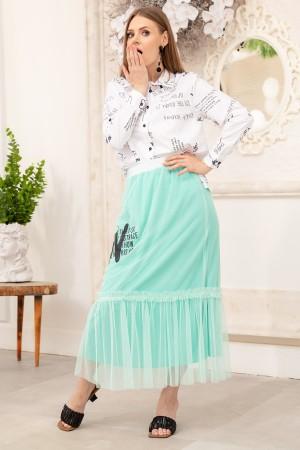 Shirt Skirt Double Suit