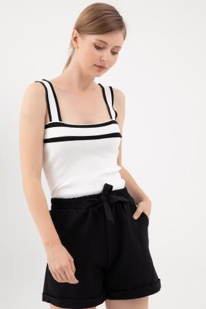 Striped Knitwear Singlet