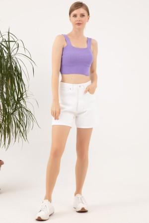 Knitwear Crop Singlet