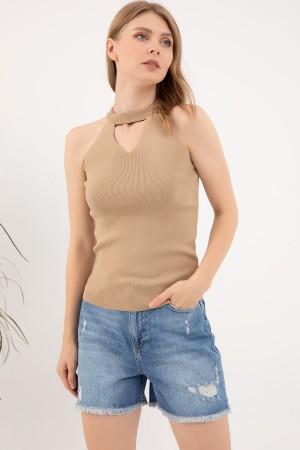 Sleeveless Neck Knitwear Singlet