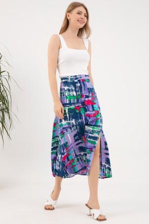 Patterned Slit Skirt