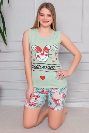 Thick Strap Shorts Pajamas Set