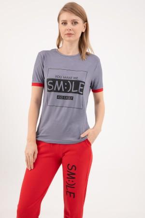 Smile Printed Tracksuit Set