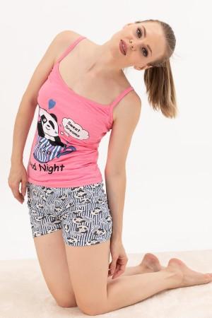 Rope Strap Shorts Pajamas Set
